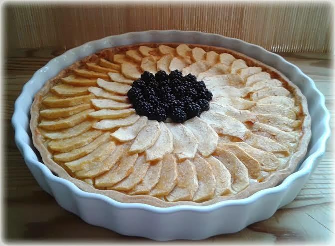 Tarta de manzana crema pastelera