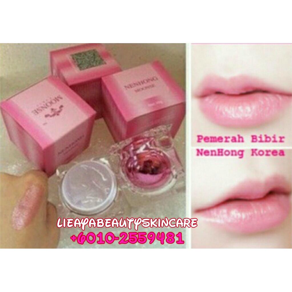 Bibir Merah Dengan Nenhong Moonse Murah Pemerah Original