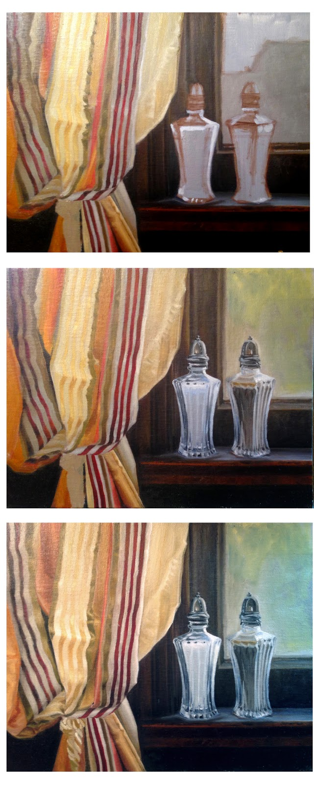 painting shiny silky fabric