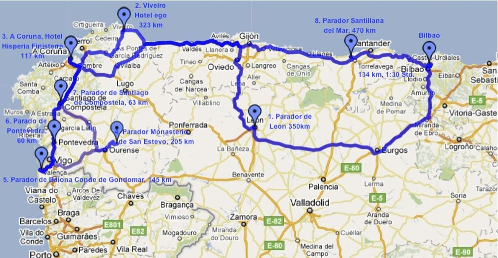 santiago trail spain map with Nordspanien Ostern 2011 Uberblick Der on Nadezhda Tolokonnikova furthermore Lisa Kolumna blogspot as well Rutas Camino Santiago also The Meseta To Hontanas moreover Karte.