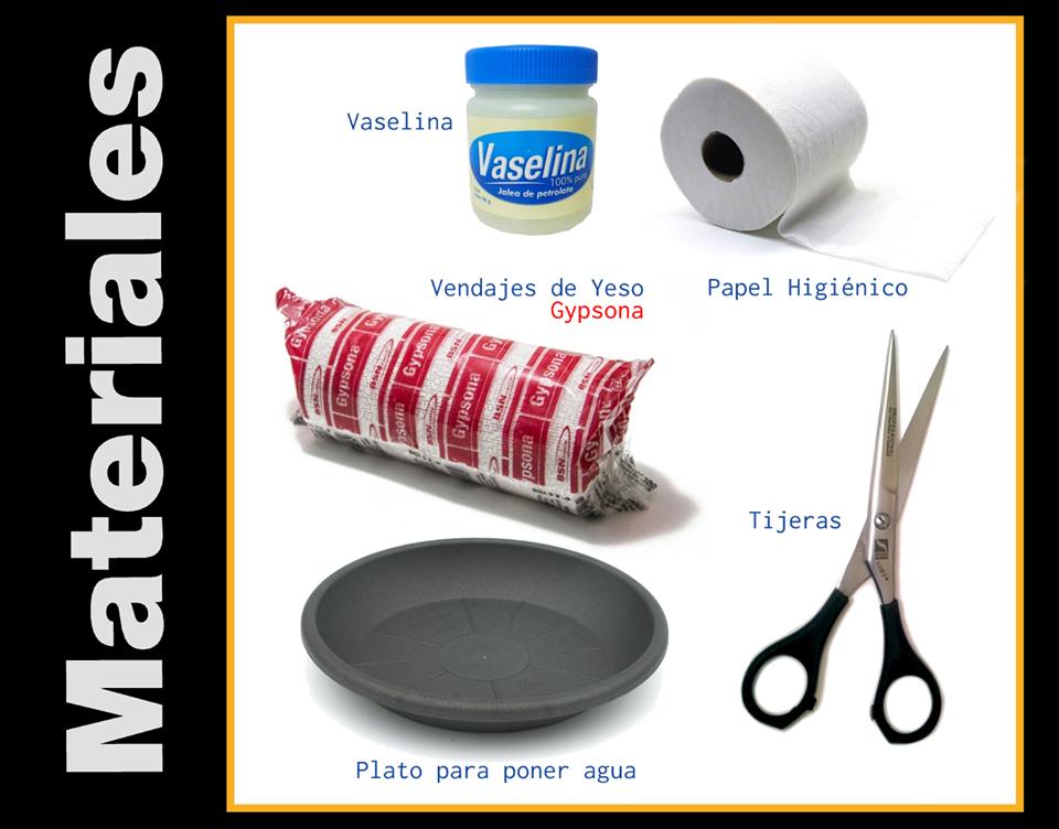 Materiales para máscara en yeso