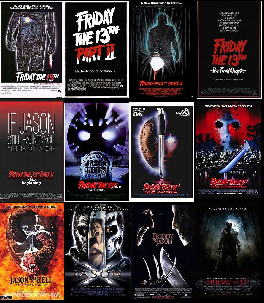 Friday 13th movies 1-12