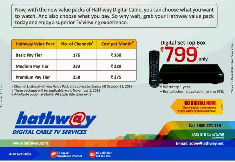 Hathway Cable High Speed Plans Pune Fiber Broadband Plans