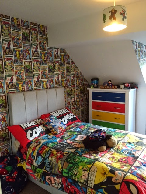 Our son loves both and is a massive fan of the Lego Marvel Superheroes PS4  game so we couldn t go wrong redecorating his room along those lines. The Breastest News  The Boys Bedroom Makeover