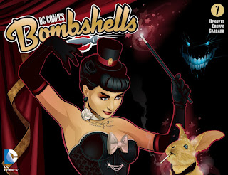 Cover of DC Comics Bombshells #7 featuring Zatanna and Constantine