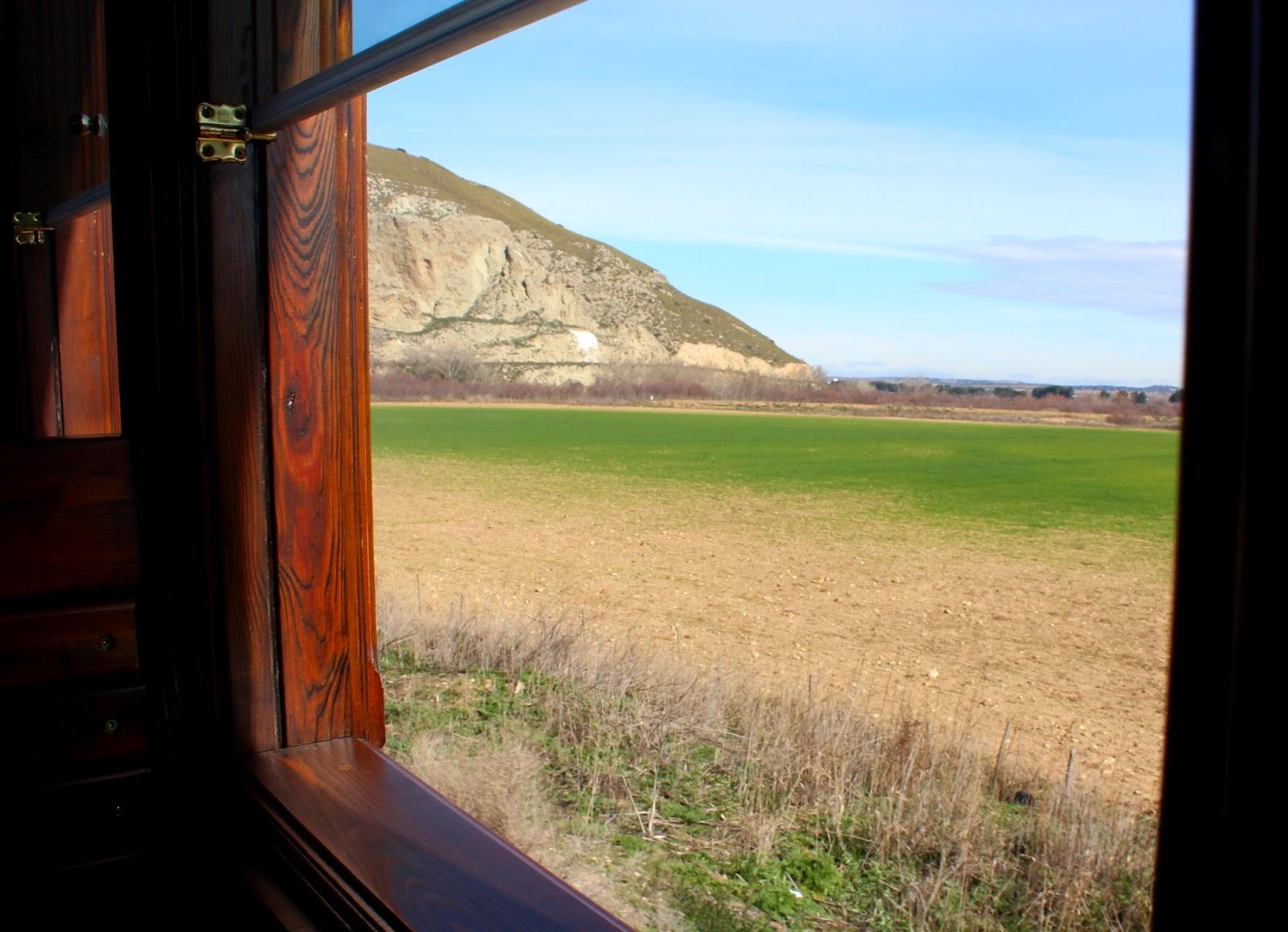 Vega del Tajuña desde el tren de vapor, tren de Arganda