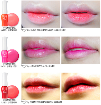 gradient lips, cara membuat gradient lips, lips korea, etude house, lips etude house, review, tips make up, chibis etude house korea, lip tint etude