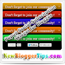 Don't Forget To Join Our Community Popup Widget for Blogger
