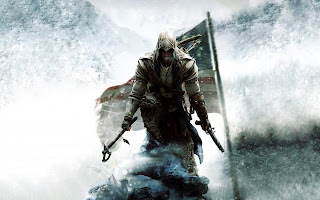 Assassin's Creed 3 Ezio with Gun and Axe HD Wallpaper