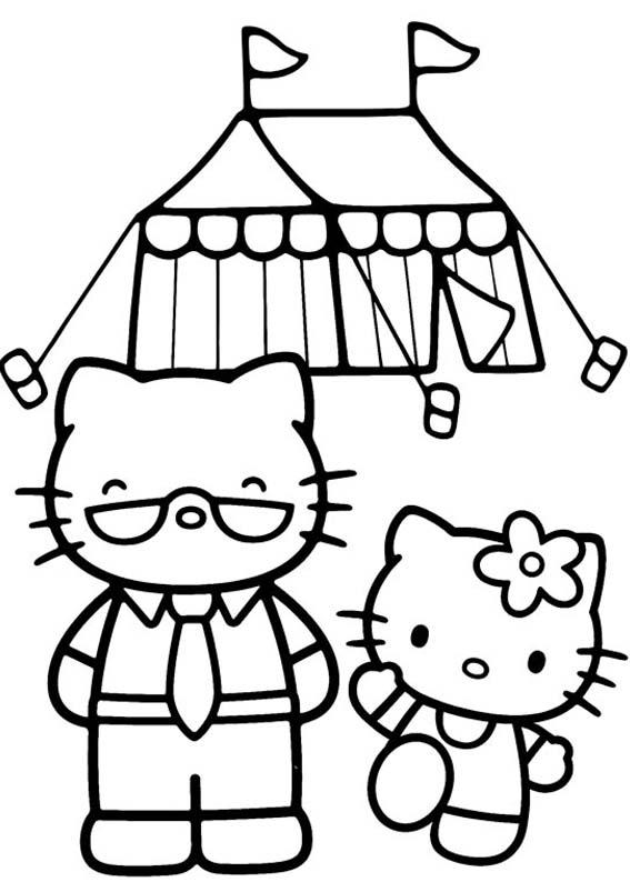 a desenhar Hello Kitty Fofo colorir