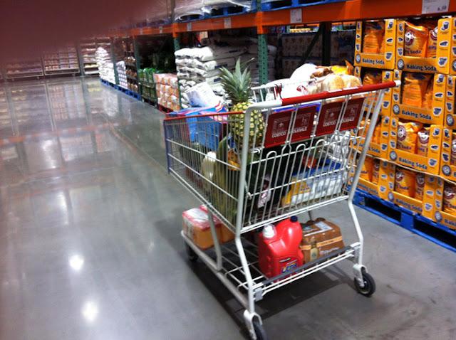 shopping cart at Costco