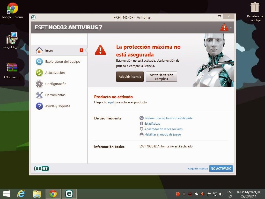 ESET NOD32 Antivirus 9 Generador de Licencias Claves