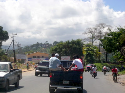 Traffic in La Ceiba, Honduras