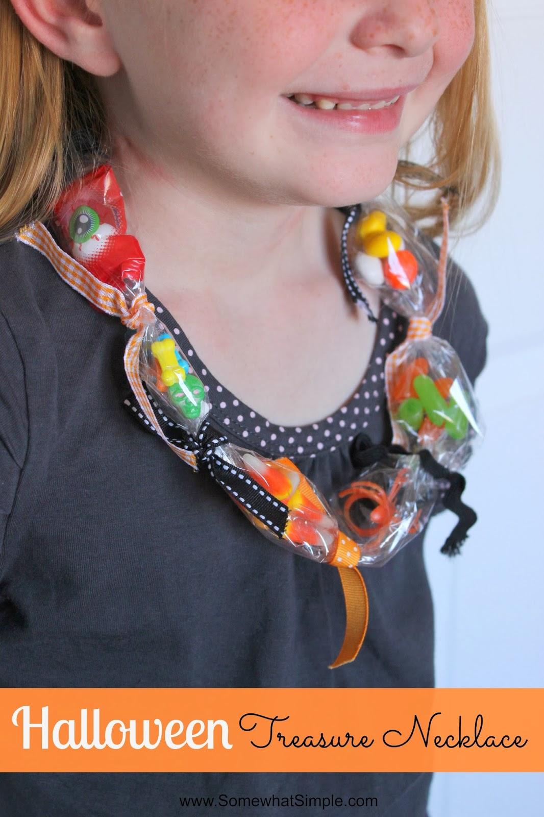 Kids 39 craft halloween treasure necklace i dig pinterest for Necklace crafts for kids