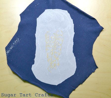 Trimmed embroidery interfacing