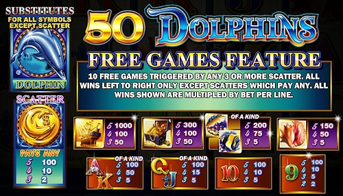 50 Dolphins Slot Machine by Ainsworth – Play Online for Free