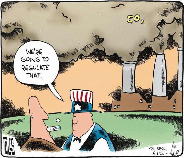 Tom Toles: regulating e-cigarettes.