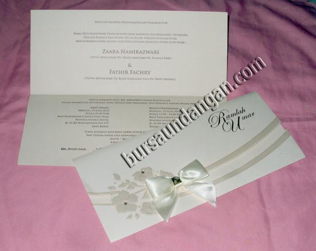 Desain Blanko Kartu Undangan Pernikahan model amplop elegant dengan ...