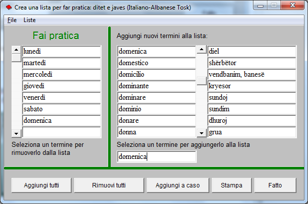 Fjalor Italisht Shqip | Fjalor Shqip Italisht