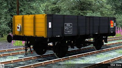 Fastline Simulation - VEA Vans: Even though only fifty ODA conversions were made from pipe wagons one of them still managed to gain Railfreight Distribution livery, it would have been rude to not include it in the pack.