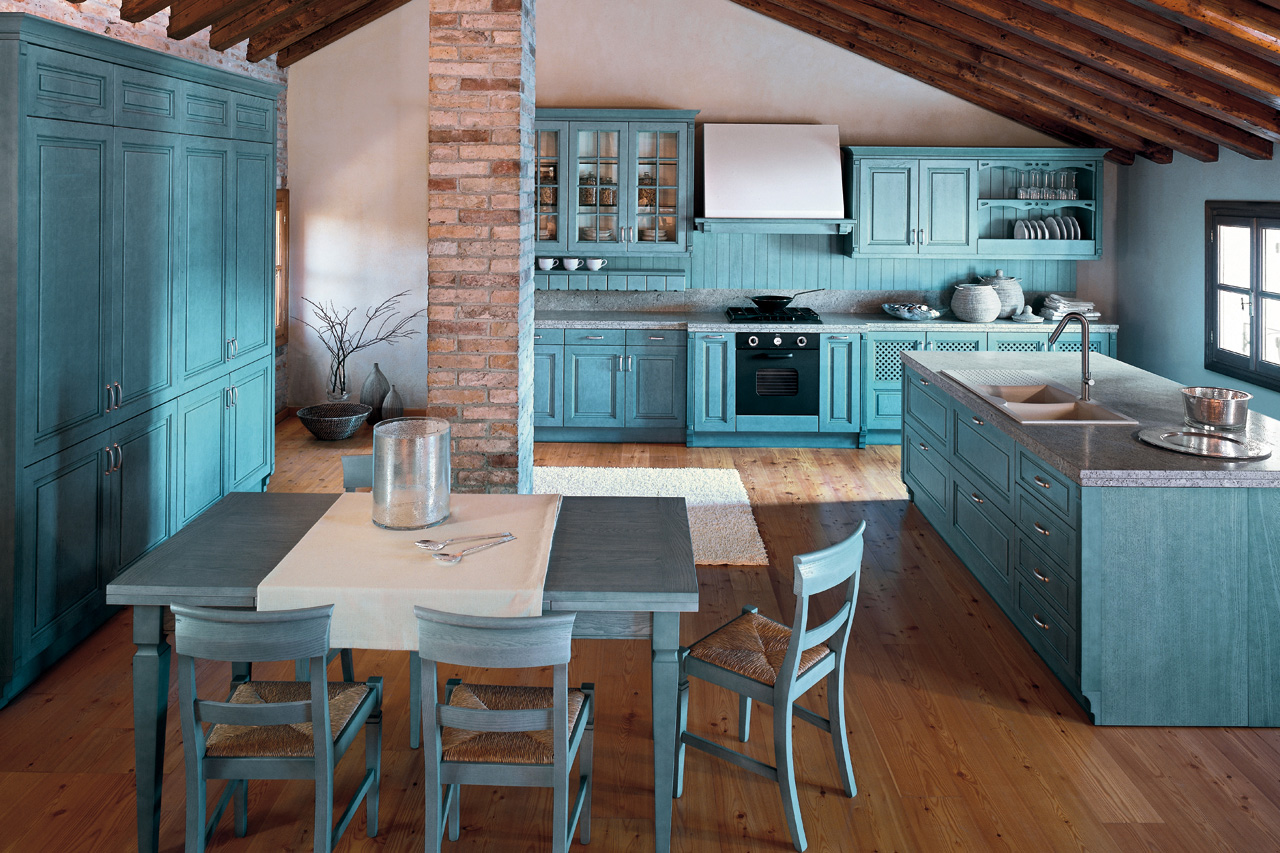 Blue kitchen walls: you\'ll feel more comfortable when cooking ...