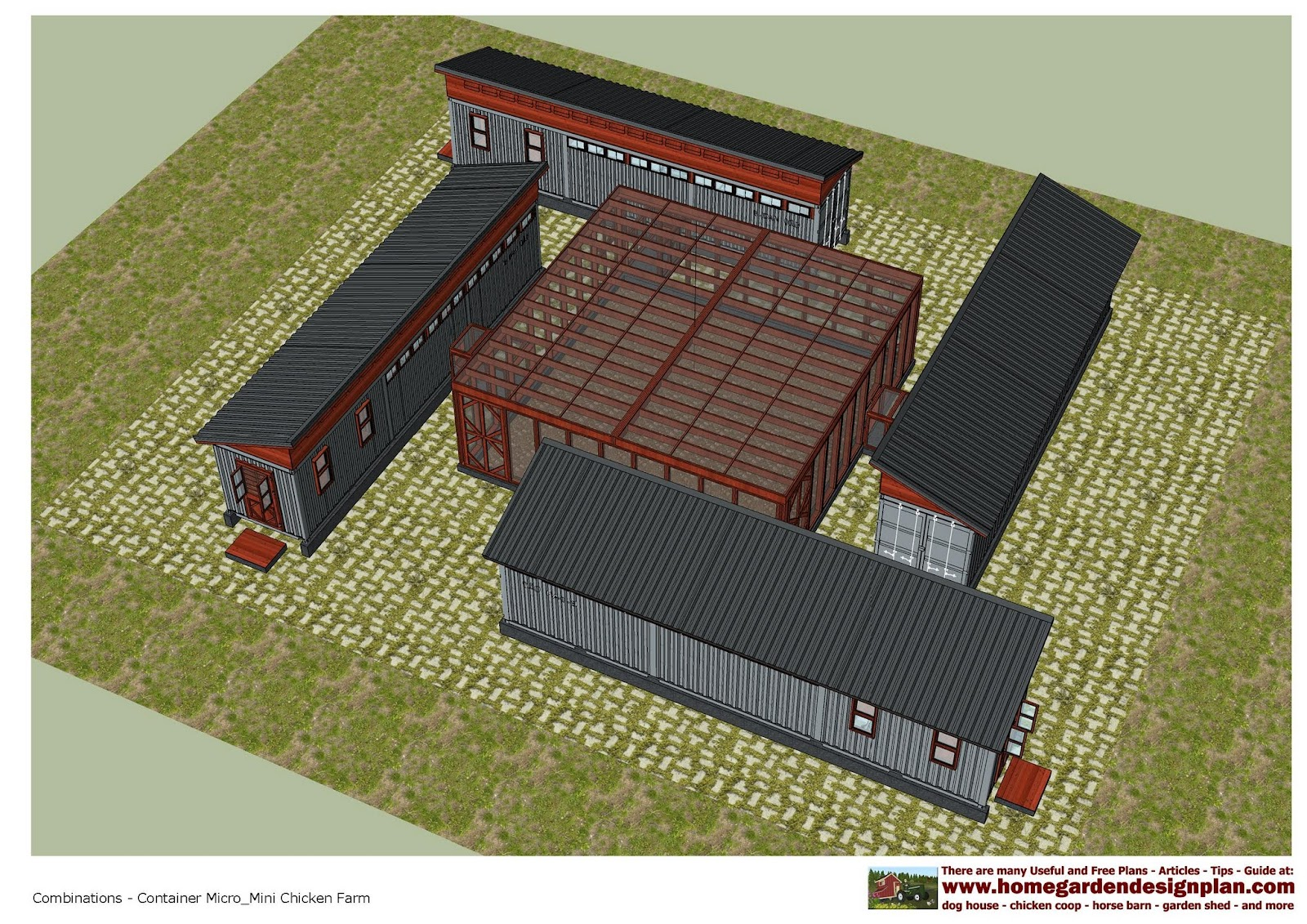 Home Garden Plans Cn200 1 40 Feet Container Chicken Farm