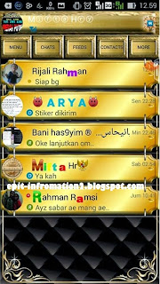 BBM Begal Gold Themes Mod Based 2.8.0.21
