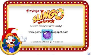 get zynga slingo free 30 extra balls
