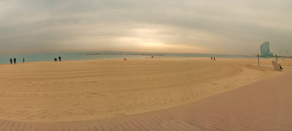 Traumhafter Strand bei Barcelona