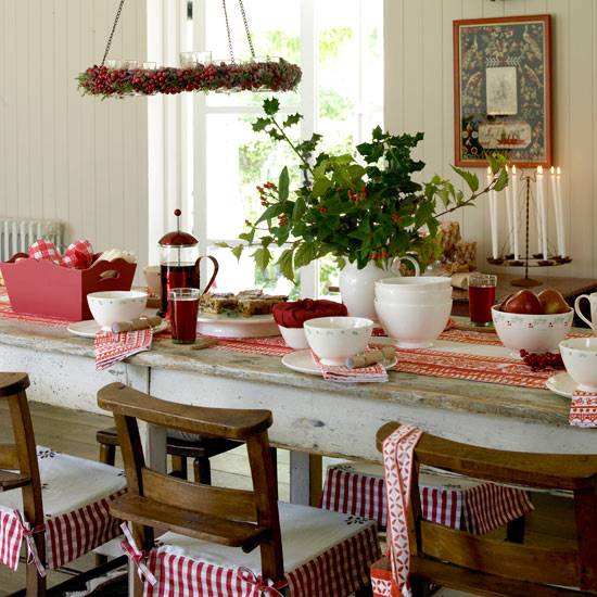 Country decorating ideas casual cottage for Christmas home design