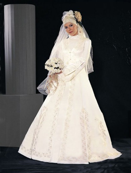 Wedding dresses fashion muslim clothing gallery 2011 for Muslim wedding dress photo