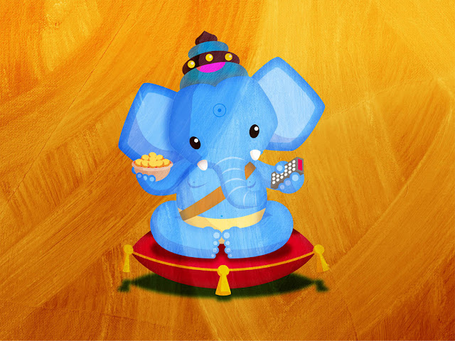Lord Ganesh in animation