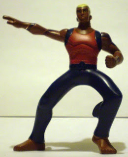 Front of McDonald's Young Justice Aqualad action figure from 2011