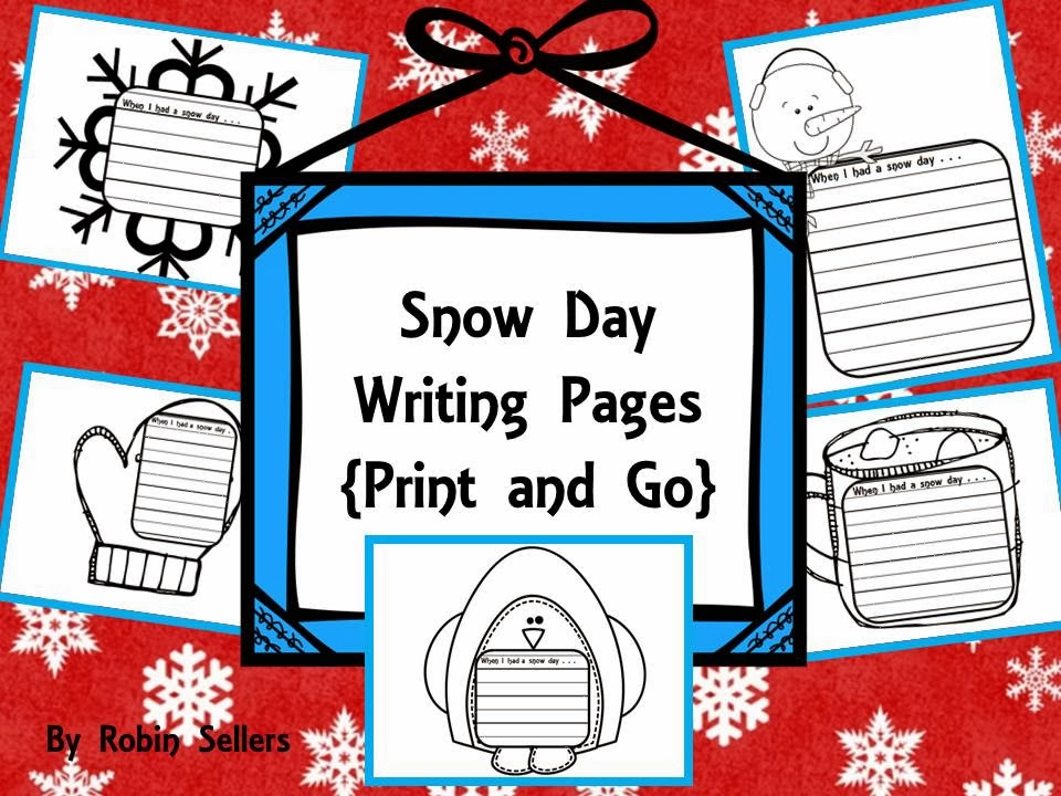 snow day writing pages