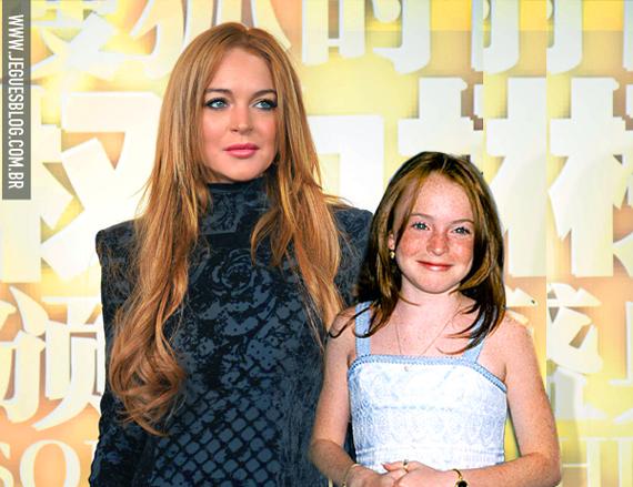 Lindsay Lohan atualmente e a alguns anos atrás