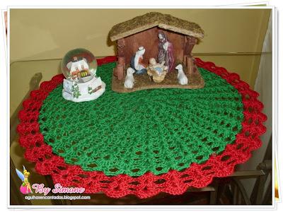 Toalhinha de crochê natal, toalhinha de crochê