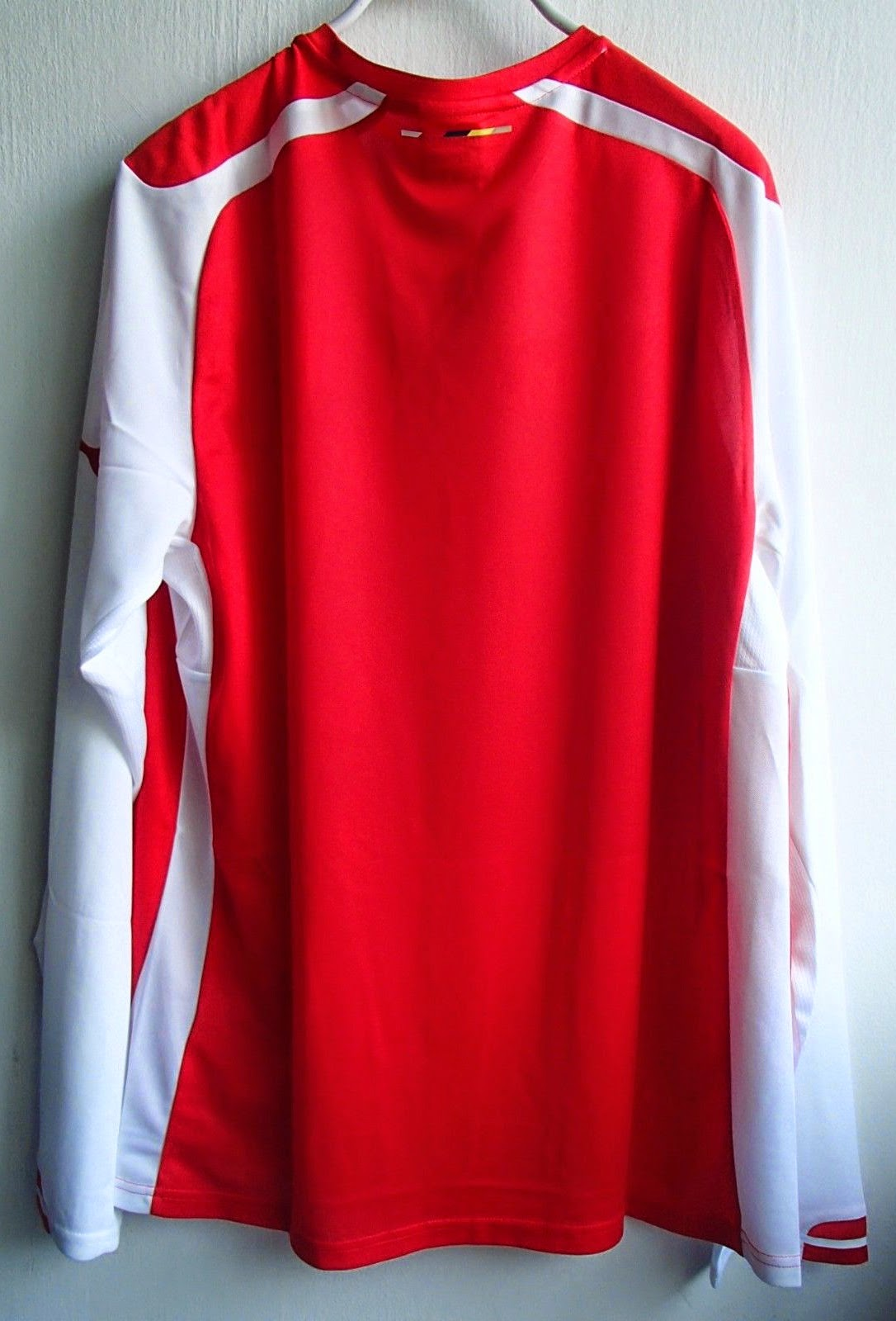 THAILAND QUALITY(AAA) ARSENAL HOME LONG SLEEVE SOCCER JERSEY 14-15 RED PUMA