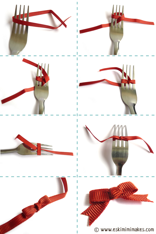 Fork bows how to tie a bow using a fork eskimimi makes