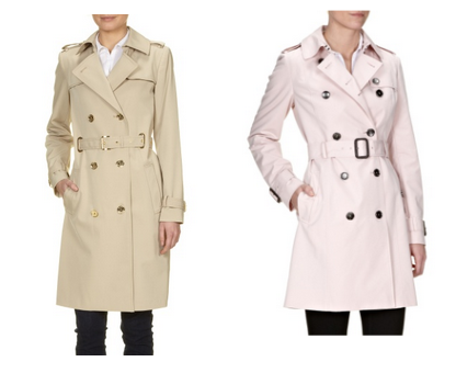 Fashion ID, trench coat candy colour, Boss trench coat