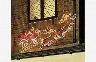Navidad, Decoración con Siluetas Intermitentes