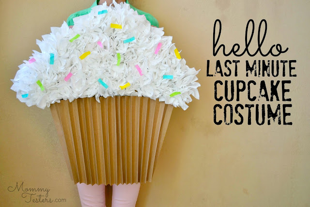Mommy Testers, DIY paper cupcake costume