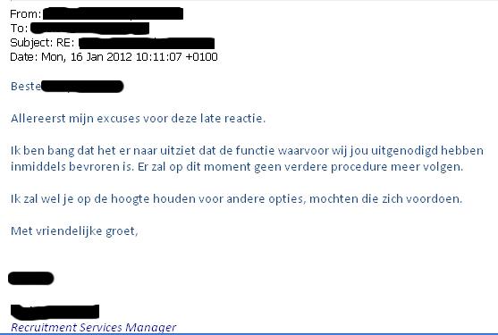 Veel succes bij het vinden van een passende baan!: 2012