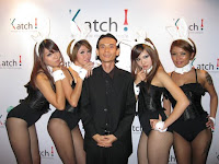Jason Geh with the Bunny Girls