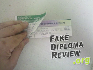sending money order to pay for a fake diploma