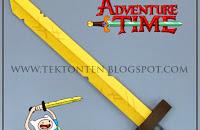 Adventure Time Finns Golden Sword Of Battle Papercraft