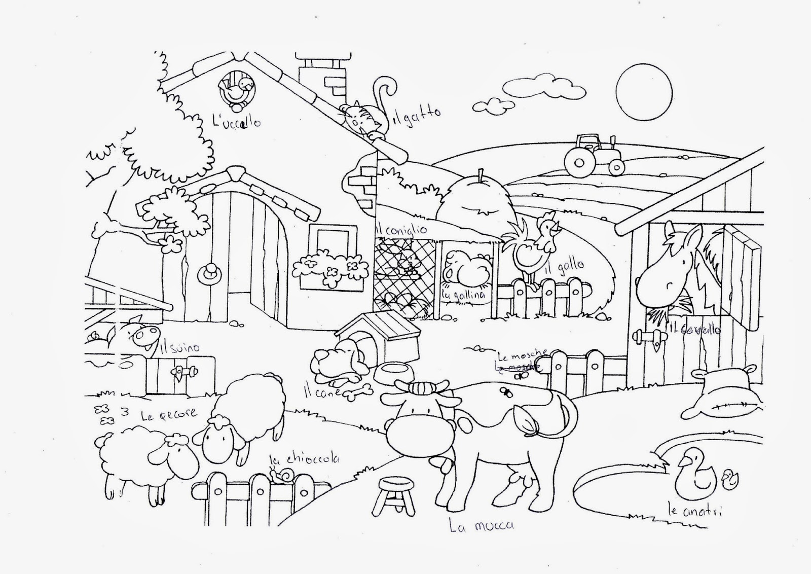 Il meglio di disegni fattoria da colorare per bambini di cani for Disegno della fattoria americana