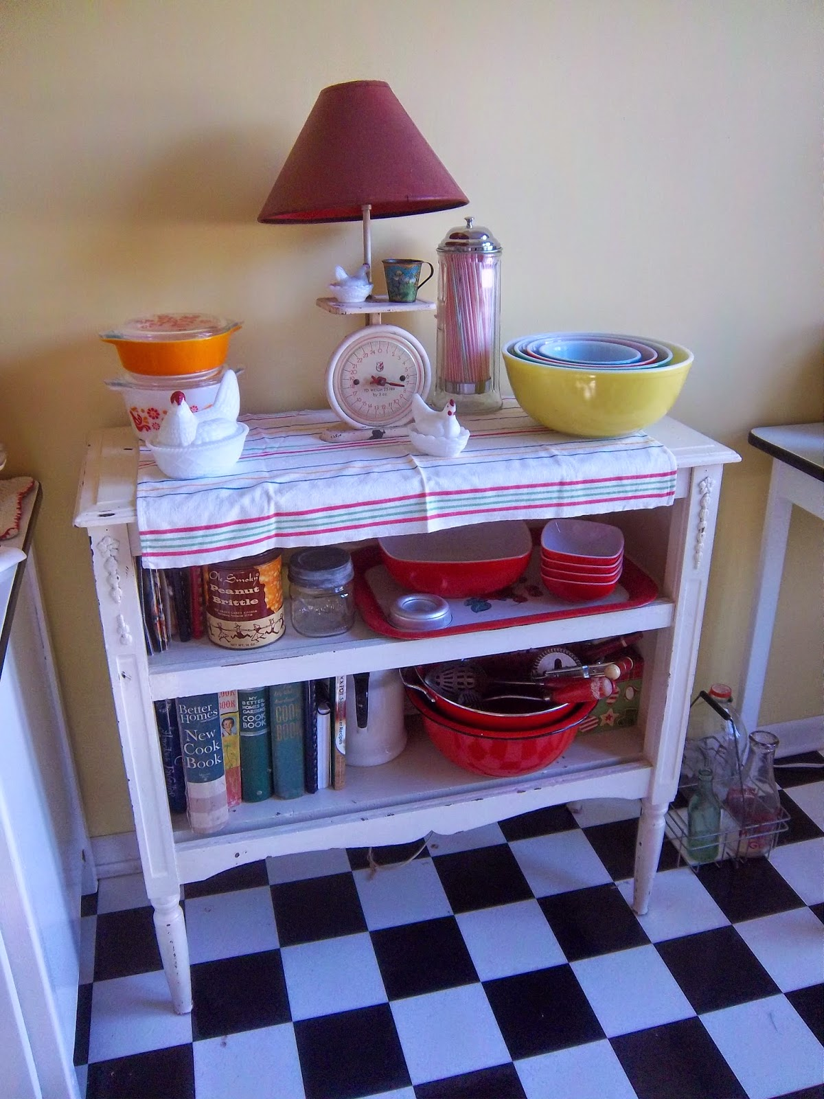 Enamel Top Cabinet A Sentimental Life Radio Cabinet Repurposed