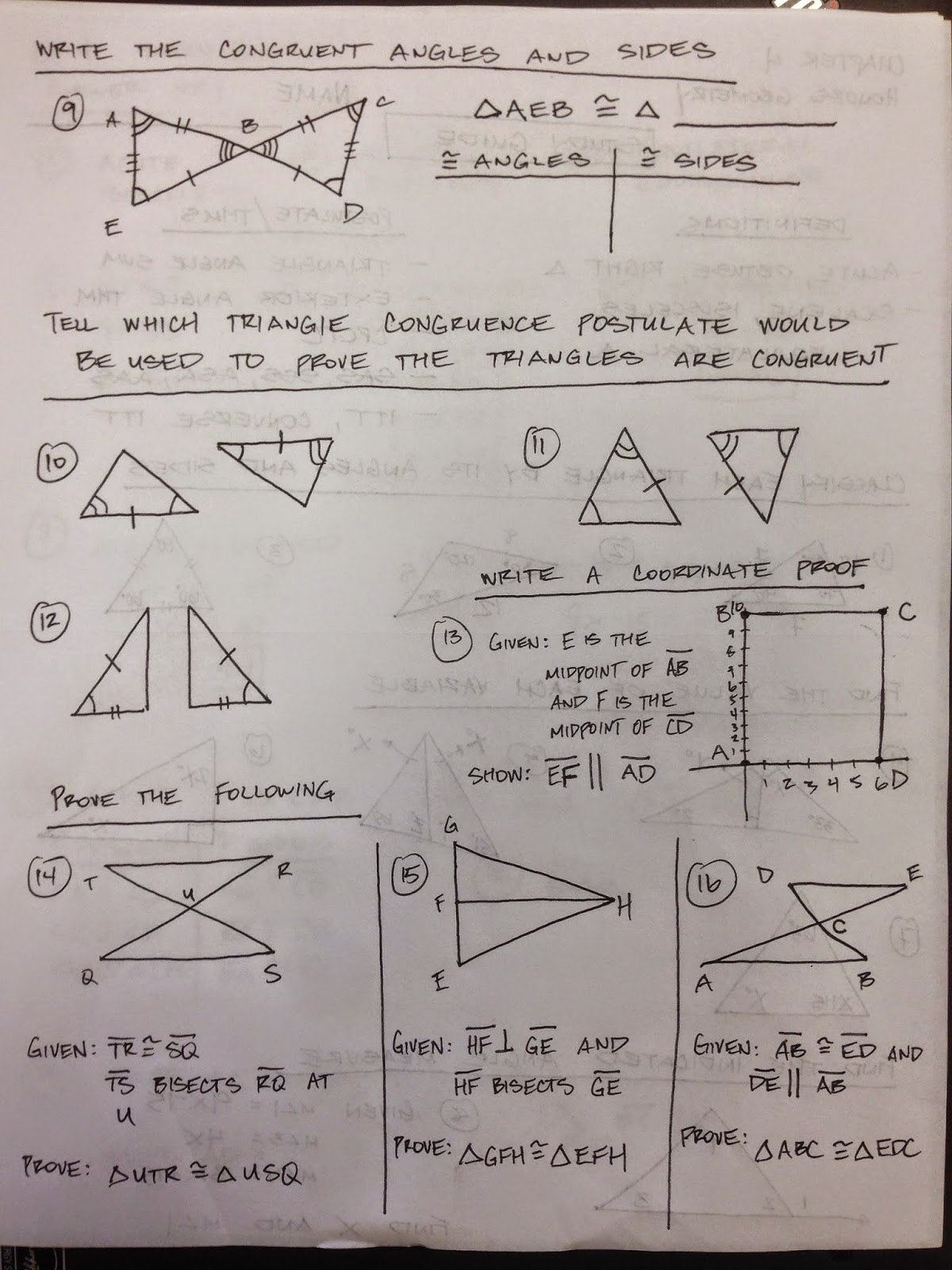 Honors Geometry - Vintage High School: Chapter 4 Test ...
