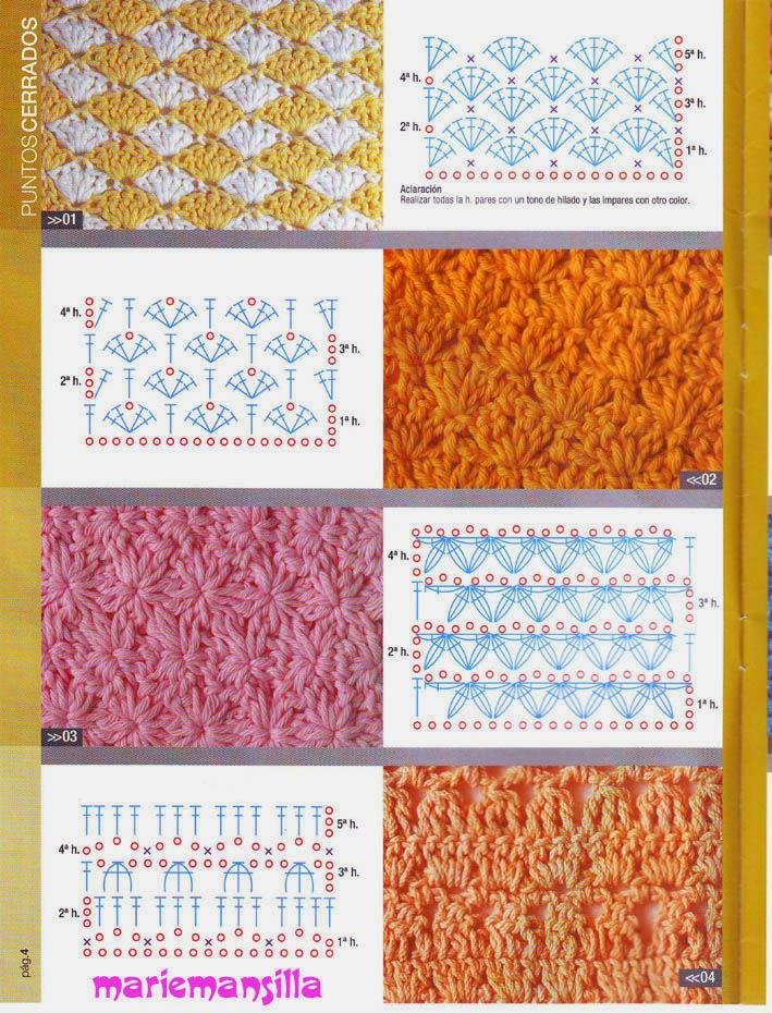 Colección de puntos para tejer al crochet