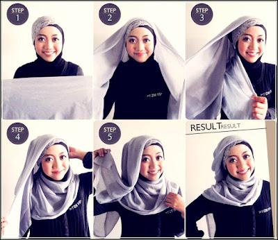 Cara memakai jilbab praktis